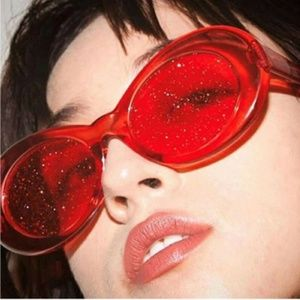 Red Glitter Sunnies
